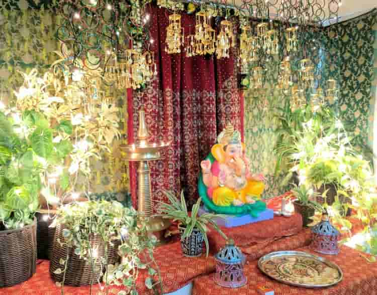 Background for Ganpati Decoration