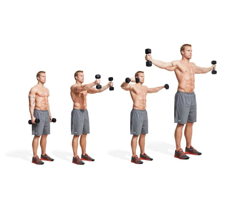 Shoulders Workout at Home with Dumbbells